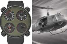 Historic Helicopter Timepieces - 'Only One Air Huey' Watch is a Robust Time-Teller