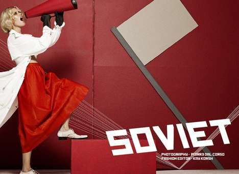 USSR-Themed Photoshoots - The Schon Magazine 'Soviet' Editorial is Modeled After Political Republics