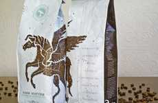 Artfully Assembled Java Grounds - Astronaut Design Creates a Pegasus Made Out of Coffee