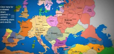 Time-lapse Map of Europe Shows Region's Growth from 1000 A.D. to 2003