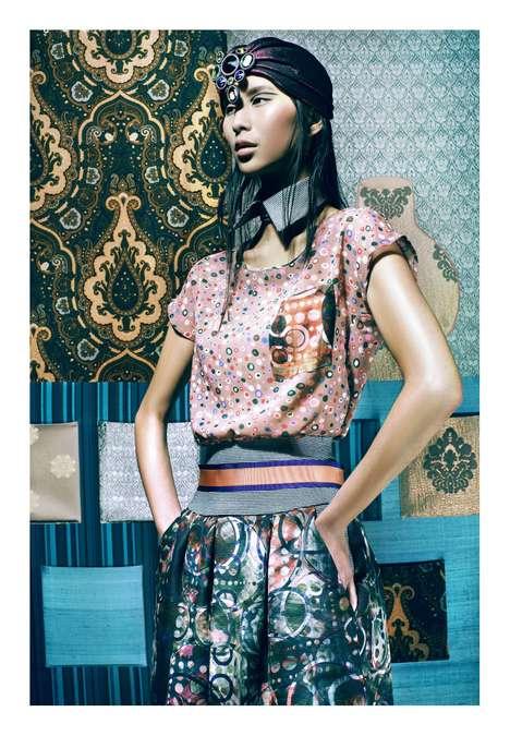 Multi-Tone Print Fashion