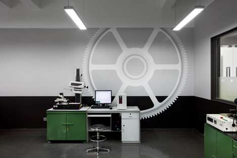 Mechanical Office Motifs - KH Gears Revs its Design Muscles with This Interior by Arboit