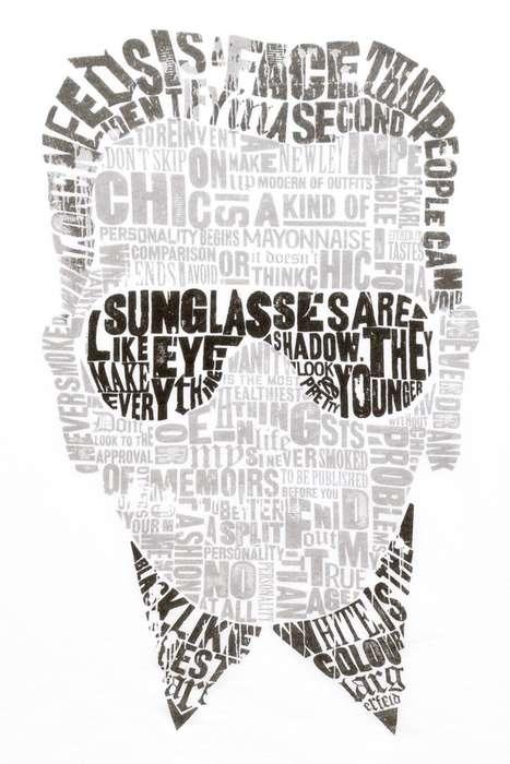 Typographical Portrait Tees