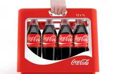 Durable Soda Carriers - Entwurfreich Creates a Clever Coca-Cola Crate that Won't Kill Your Hands