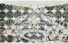 Puzzling Piecemeal Plate Portrayals - Plate Murals by Molly Hatch are Fabulous