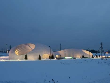 Illuminated Igloo Architecture