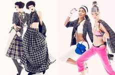 Chanel Jacket-Inspired Editorials - The ELLE US Photoshoot Features Various Personalities