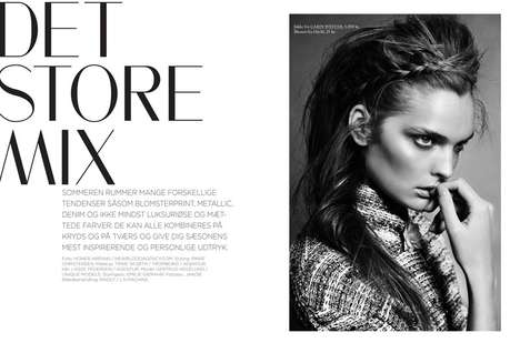 Messy Braid Editorials - The Eurowoman 'Det Store Mix' Photoshoot Clashes High- and Low-End Pieces