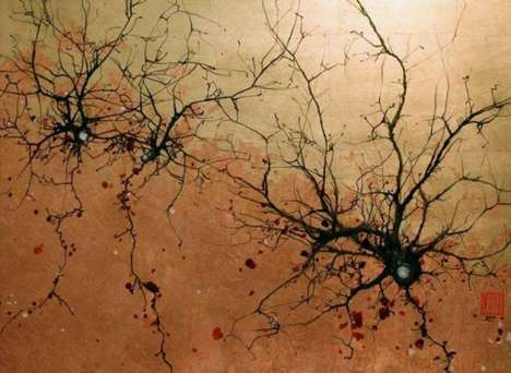 Traditional Japanese Neuron Paintings