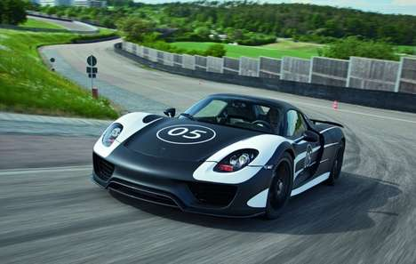 Super Speedy Sustainable Supercars (UPDATE) - The Porsche 918 Spyder Hybrid is Fuel Efficient