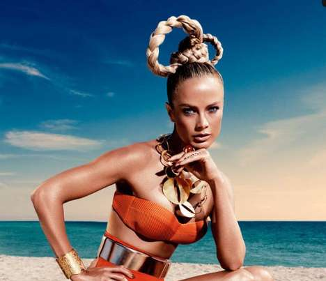 Futuristic Updo Editorials - The Vogue Germany Carolyn Murphy Editorial is Otherwordly