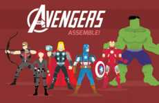 Superhero Costume Evolution Charts - The Avengers Infographic Show the Fighters' Change in Style