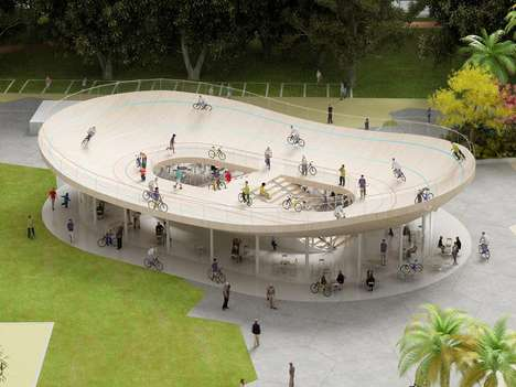 Playful Cycling Pavilions