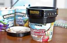Pint-Protecting Gadgets - The 'Euphori-Lock' for Ben & Jerry's Ice Cream Safeguards Desserts