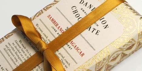 Ribbon-Wrapped Chocolate Branding