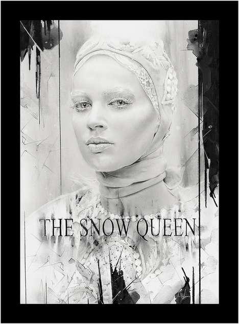Serene Snow-Powdered Sketches