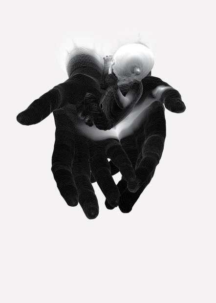 Trippy Digital Hand Depictions