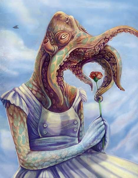 Deep Sea Humanoid Depictions
