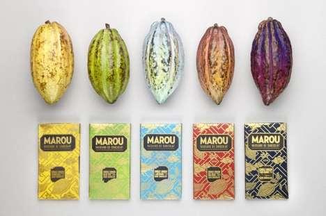 Gilded Artisan Chocolate Packaging