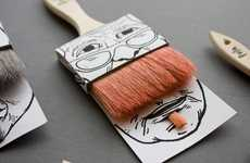Bristle-Whiskered Branding - Poilus Paintbrush Packaging has an Anthropomorphic Appeal