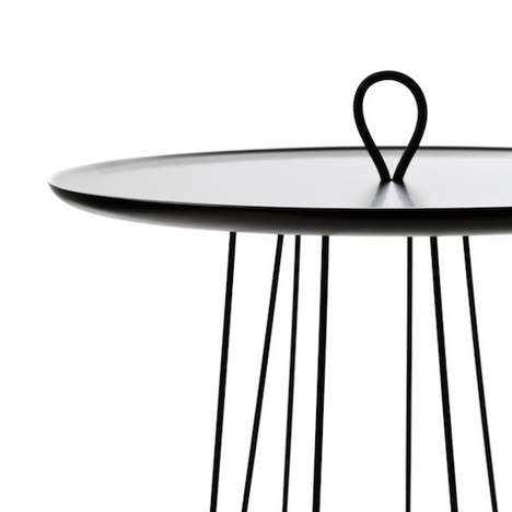 Spindly Mobile Side Tables