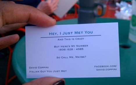 The David Coppini 'Call Me Maybe' Business Card is Hilarious