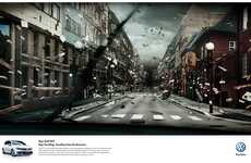 Apocalyptic Auto Ads - The Volkswagen GTI 'Tunnel Vision' Promo is Exhilarating