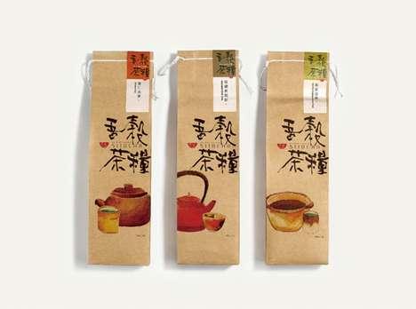 Soothing Rustic Tea Branding