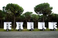 Alphabet-Inspired Abodes - 'Exile' by José Ángel Vincench are Letter-Shaped Mobile Homes