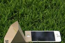 Cardboard Smartphone Speakers - The Eco Amp Amplifies Sound in a Natural and Eco-Friendly Manner