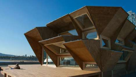 Protruding Sun-Powered Homes