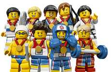 Mini Building Block Athletes - The LEGO Olympic 2012 Minifigures are Ready to Compete