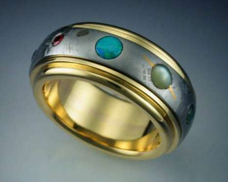 Astronomical Hand Accessories - The Nine Planets Ring is Stunningly Cosmic