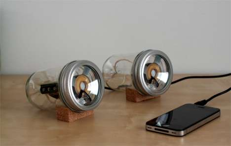 Mason Jar Speakers - The Audiojar by Sarah Pease is a Fun and Classy Do-It-Yourself Project