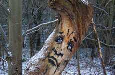 Grimacing Tree Graffiti