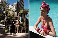 Vibrantly Accessorized Swimwear