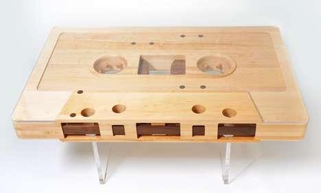 Retro Cassette Tape Tables