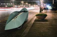 Sharp Eco Vehicles - The Petal Velomobile Promises Increased Efficiency of Human-Powered Transport