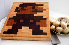 Retro Gaming Cutting Boards - Jim Van Winkle Designs Cooking Tool with a Pixelated Super Mario