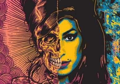 Split-Faced Celebrity Skeletons