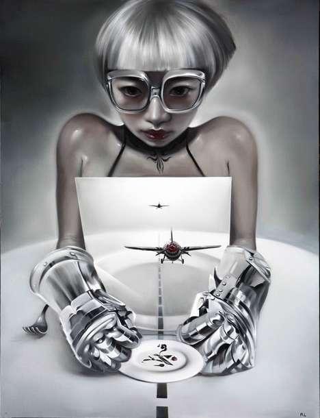 Futuristic Femme Fatale Paintings