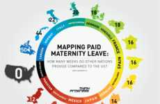 Staggering Mommy Stats - The 'Mapping Paid Maternity Leave' Infograph Brings Bad News for Americans