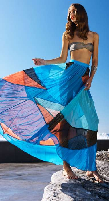 Vibrant Billowing Beachwear
