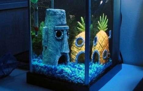 Cartoon Fish Tank Abodes