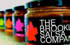 Hand-Capped Condiment Packaging - The Brooklyn Salsa Company Branding Exudes a Love for the City