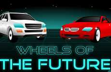 Social Media Connected Cars - The 'Wheels of the Future' Infograph Imagines the Vehicle to End All
