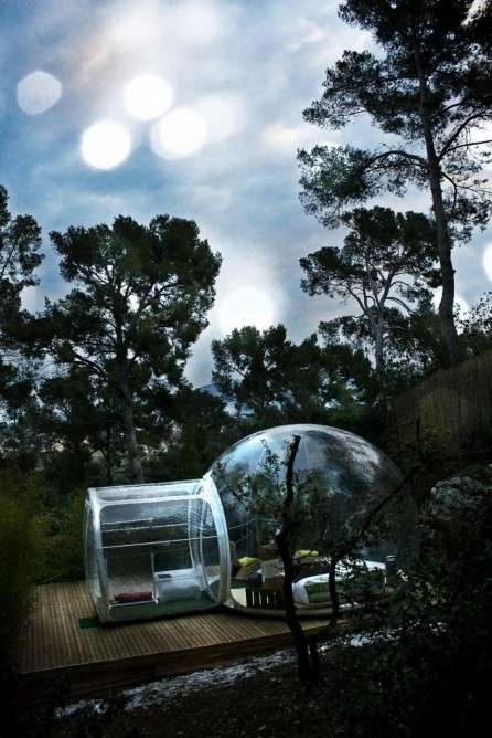 See-Through Spherical Lodging