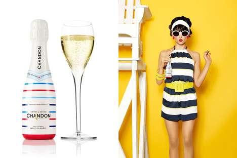 Patriotic Champagne Bottles
