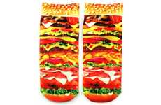 Succulent Sustenance Socks - The Neatoshop Burger Socks are Mouthwatering