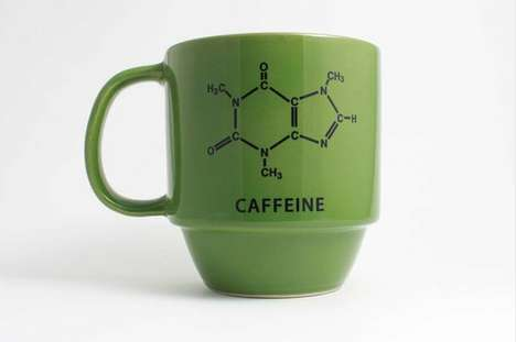 The Caffeine Molecule Decal Mug is an Adorkable Way to Ease the Morning